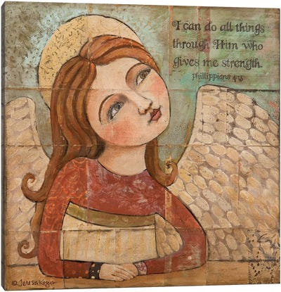 He Gives Me Strength Canvas Art Print