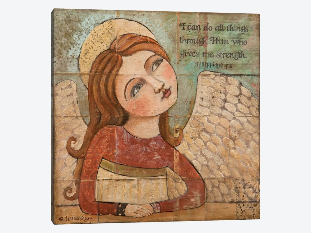 He Gives Me Strength by Teresa Kogut 1-piece Art Print