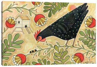 Hello Black Hen Canvas Art Print