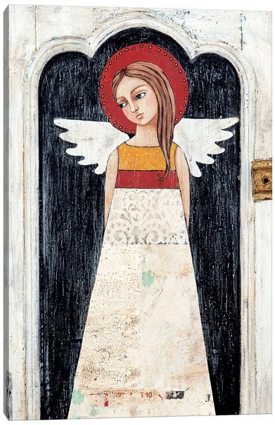 Angel Of Tulips Canvas Art Print