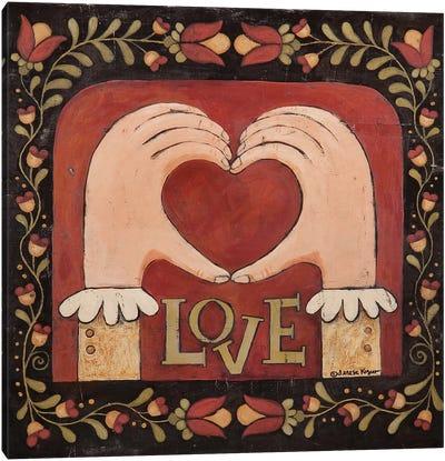 Love Hands Canvas Art Print