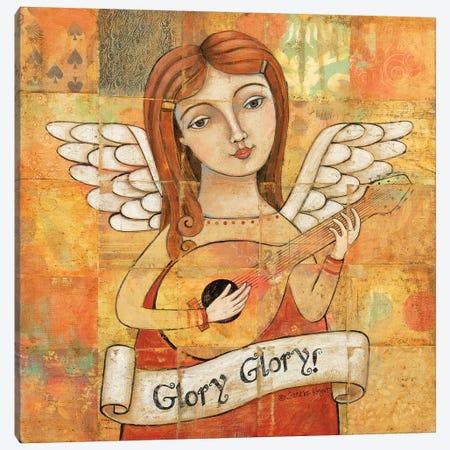 Angel With Guitar Canvas Print #TKG12} by Teresa Kogut Canvas Artwork