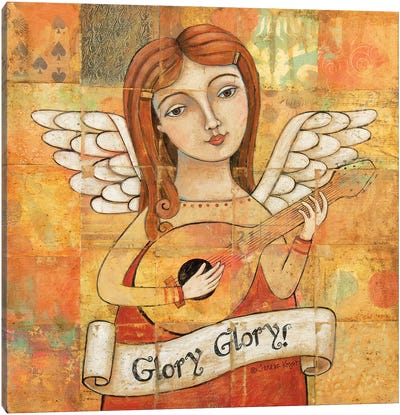 Angel With Guitar Canvas Art Print