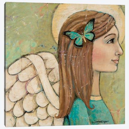 Merciful No Words Canvas Print #TKG133} by Teresa Kogut Canvas Artwork