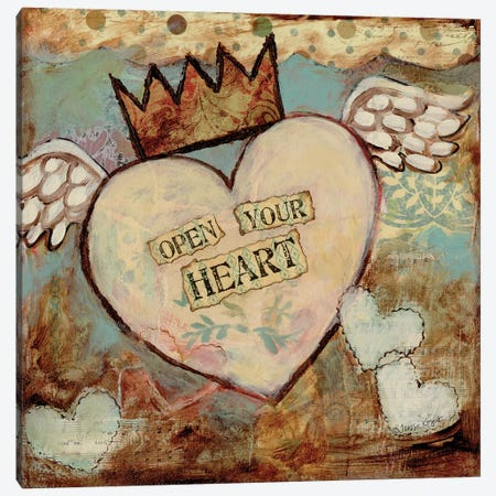 Open Your Heart Canvas Print #TKG141} by Teresa Kogut Canvas Print