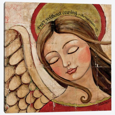 Pray Without Ceasing Canvas Print #TKG151} by Teresa Kogut Canvas Wall Art