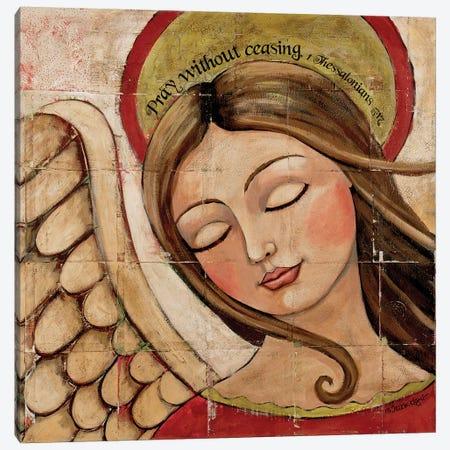 Pray Without Ceasing Canvas Print #TKG151} by Teresa Kogut Canvas Wall Art