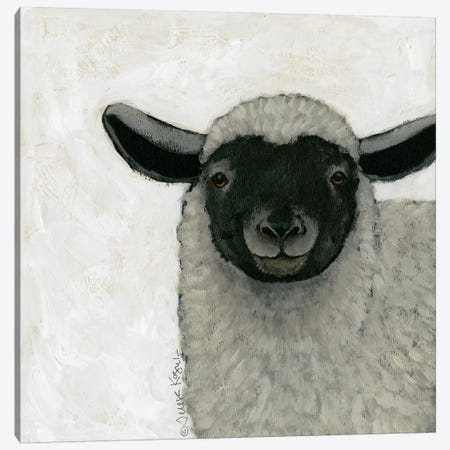 Sadie Sheep Canvas Print #TKG162} by Teresa Kogut Canvas Print