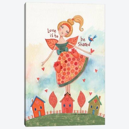 Share Love Canvas Print #TKG164} by Teresa Kogut Canvas Wall Art