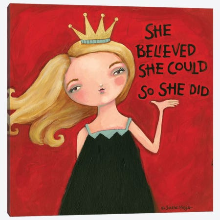 So She Did Canvas Print #TKG168} by Teresa Kogut Canvas Print