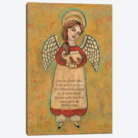 Sparrow Canvas Print #TKG171} by Teresa Kogut Canvas Art