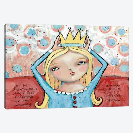 Straighten Your Crown Blonde Canvas Print #TKG176} by Teresa Kogut Art Print
