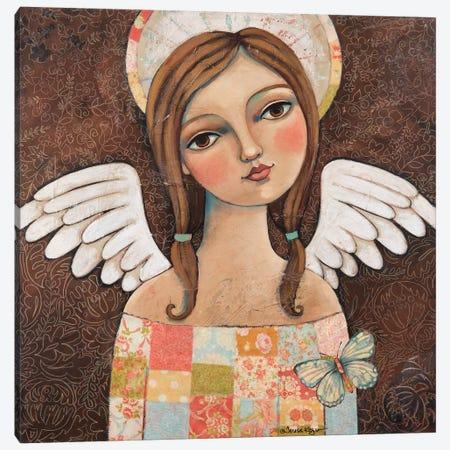 Sweetness With Butterflies Canvas Print #TKG179} by Teresa Kogut Canvas Wall Art