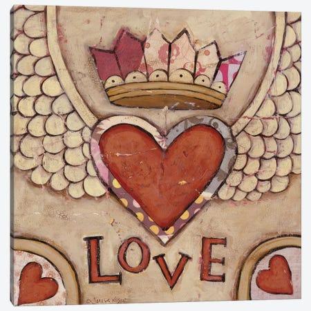 Winged Heart Canvas Print #TKG193} by Teresa Kogut Canvas Artwork