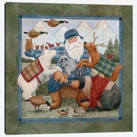 Woodland Santa Canvas Print #TKG194} by Teresa Kogut Canvas Print