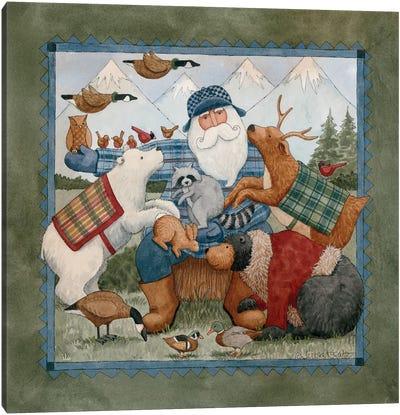 Woodland Santa Canvas Art Print