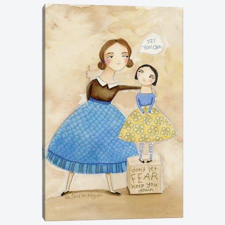 Yes You Can Canvas Print #TKG196} by Teresa Kogut Canvas Art Print