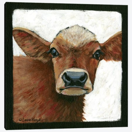 Bella Cow Canvas Print #TKG22} by Teresa Kogut Canvas Print