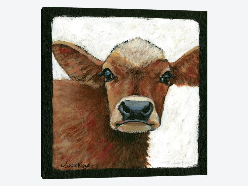 Bella Cow by Teresa Kogut 1-piece Canvas Wall Art