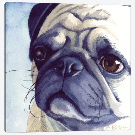 Bugabee Pug Canvas Print #TKG28} by Teresa Kogut Canvas Print