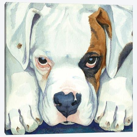 Buster As A Pup Canvas Print #TKG31} by Teresa Kogut Canvas Wall Art
