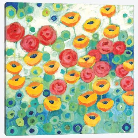 California Poppies Square Canvas Print #TKG34} by Teresa Kogut Canvas Print