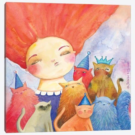 Catitude Canvas Print #TKG36} by Teresa Kogut Art Print