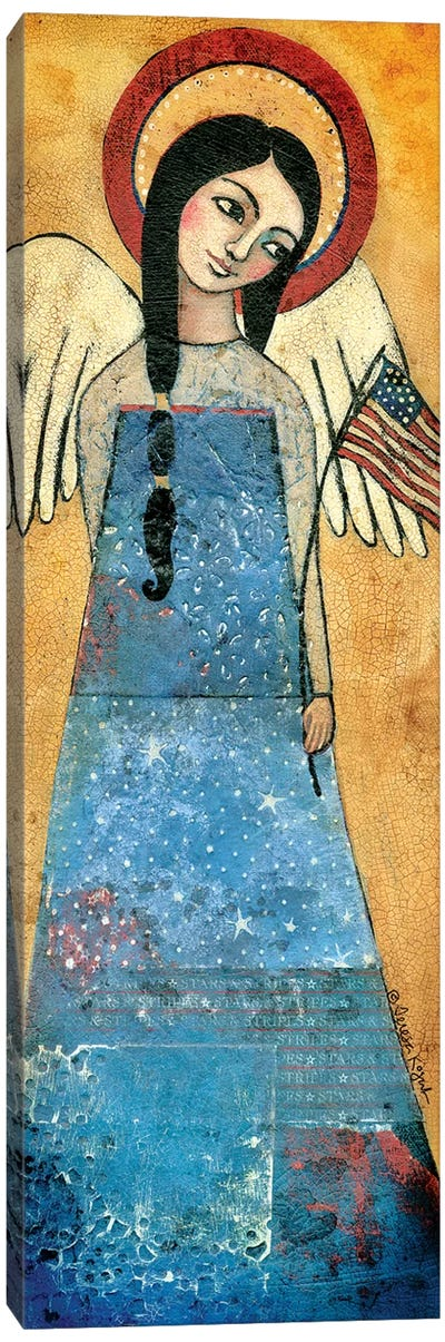Americana Angel Canvas Art Print