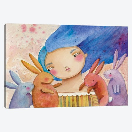 Cottontails Canvas Print #TKG41} by Teresa Kogut Canvas Print