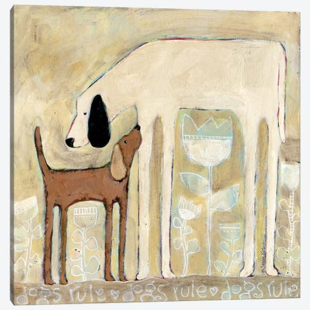 Dogs Rule Canvas Print #TKG48} by Teresa Kogut Canvas Art Print