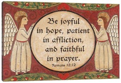 Faithful In Prayer Canvas Art Print