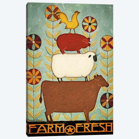 Farm Fresh Animal Stack Canvas Print #TKG55} by Teresa Kogut Canvas Art Print