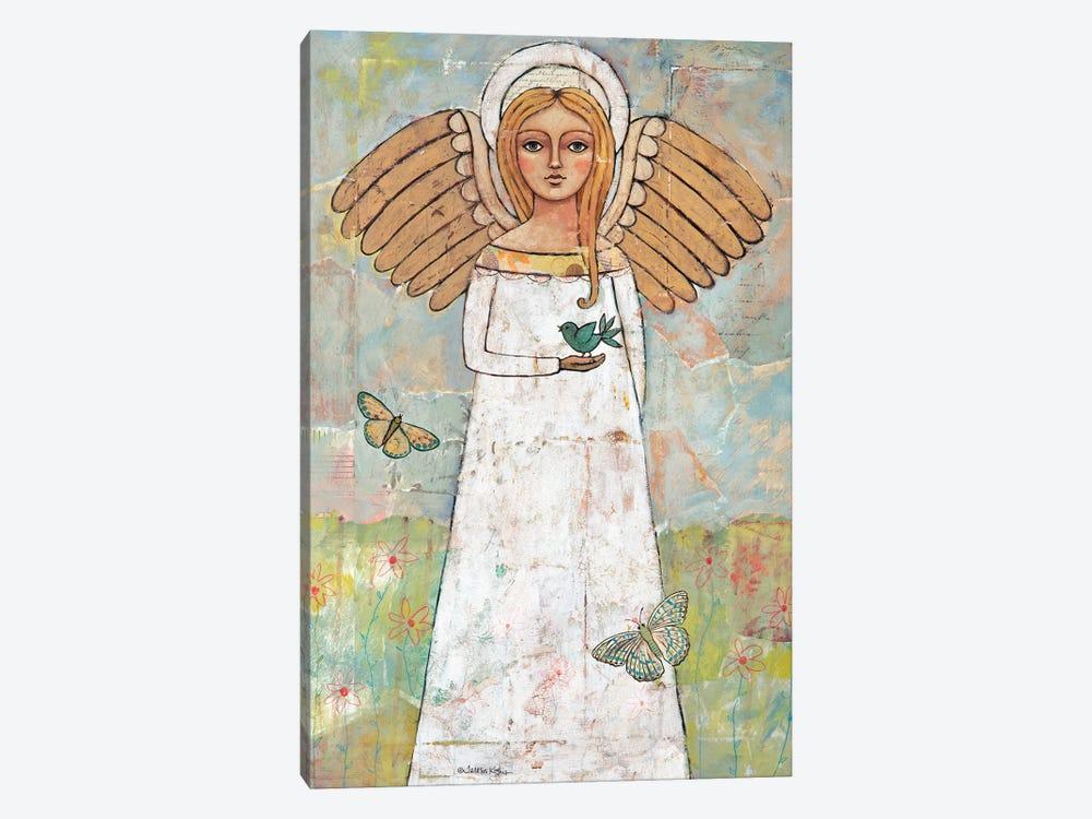 Angel From The Meadow With Bird by Teresa Kogut 1-piece Canvas Art