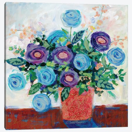 Floral XV Canvas Print #TKG73} by Teresa Kogut Canvas Art