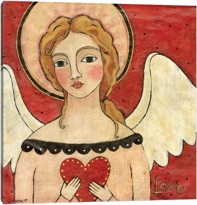 Angel Of Love Canvas Art Print