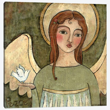 Angel Of Peace Canvas Print #TKG8} by Teresa Kogut Art Print