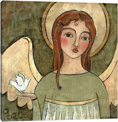 Angel Of Peace Canvas Art Print