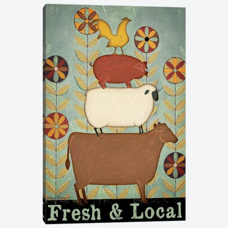 Fresh & Local Animal Stack Canvas Print #TKG90} by Teresa Kogut Canvas Wall Art