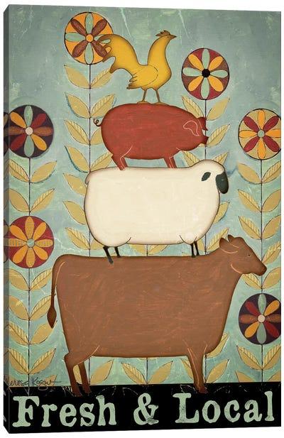 Fresh & Local Animal Stack Canvas Art Print