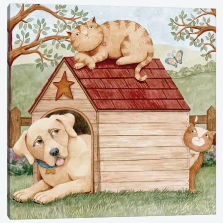 Furry friends Canvas Print #TKG92} by Teresa Kogut Canvas Wall Art