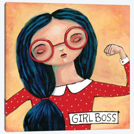 Girl Boss Canvas Print #TKG94} by Teresa Kogut Canvas Art Print