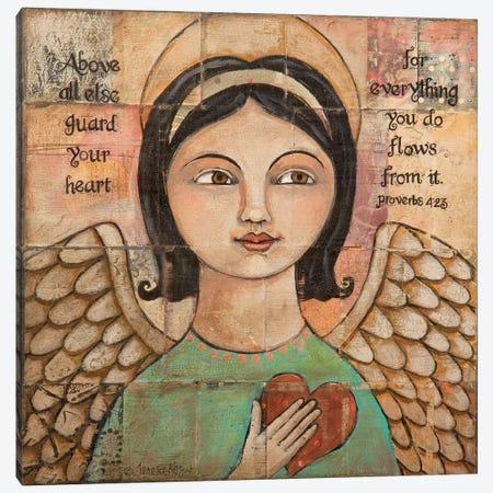Guard Your Heart Canvas Print #TKG99} by Teresa Kogut Canvas Wall Art