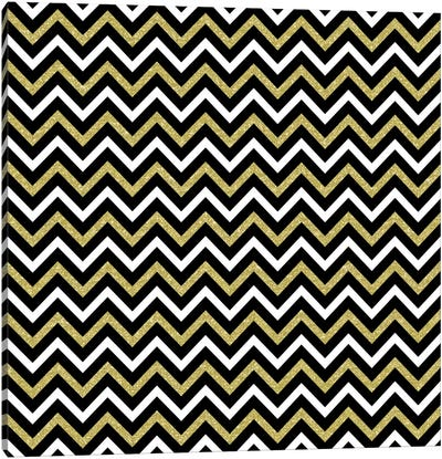 Small Bling Chevron Canvas Art Print
