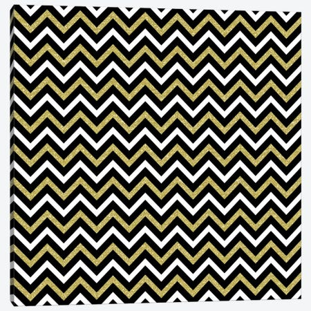 Small Bling Chevron Canvas Print #TLA17} by Tina Lavoie Canvas Wall Art