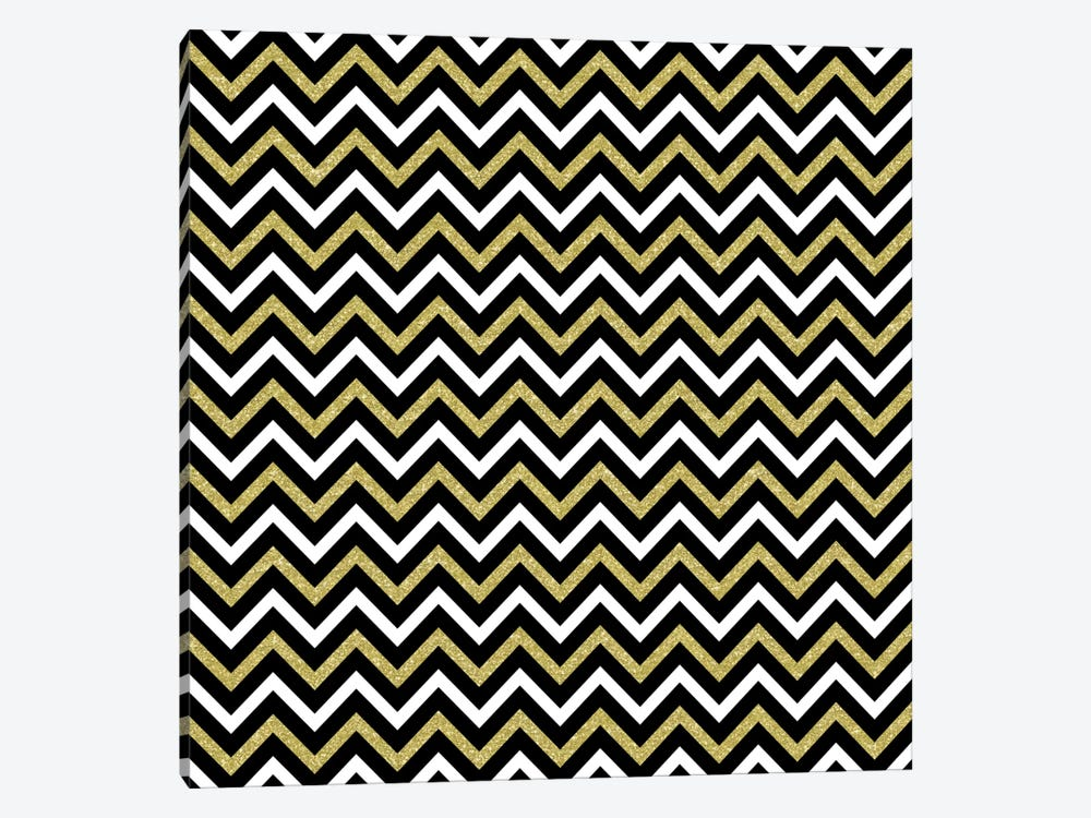 Small Bling Chevron by Tina Lavoie 1-piece Canvas Wall Art