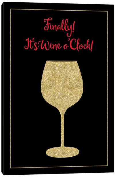 Wine O Clock Canvas Art Print