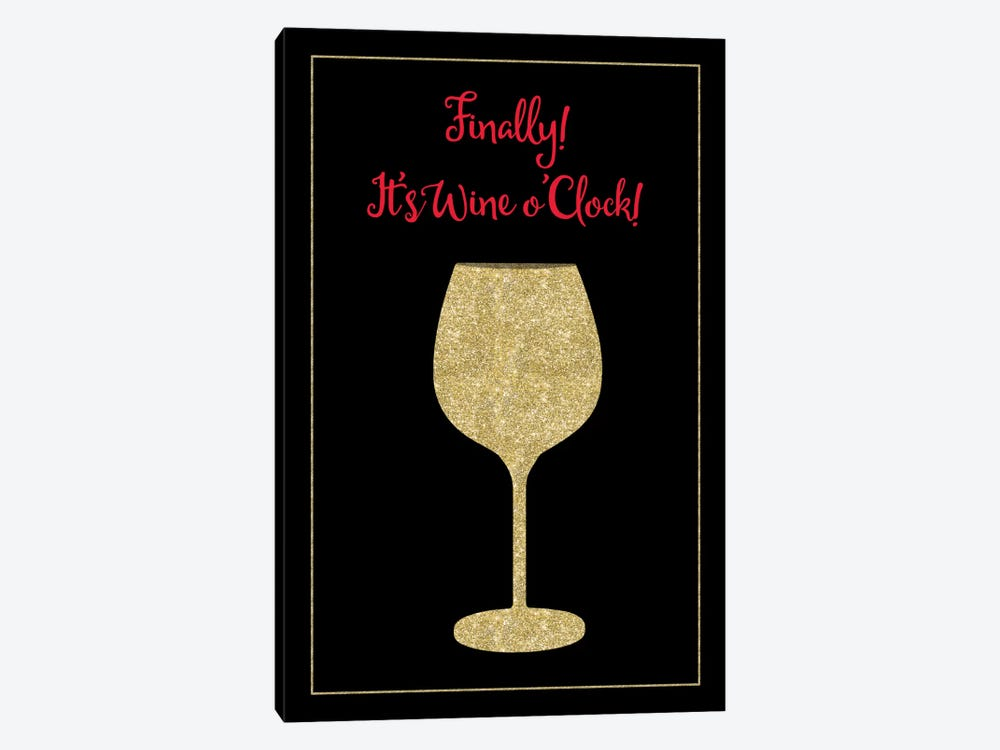 Wine O Clock by Tina Lavoie 1-piece Canvas Print
