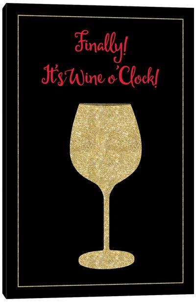 Wine O Clock Canvas Art Print