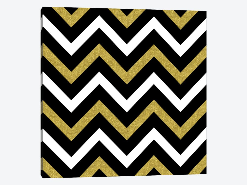 Bling Chevron by Tina Lavoie 1-piece Canvas Art Print
