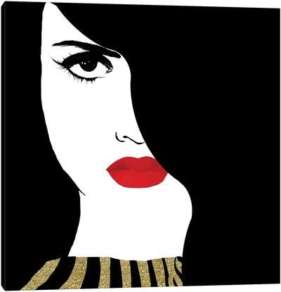 Francesca Gold Canvas Art Print